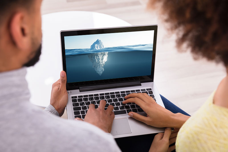 A professional website is like an iceberg